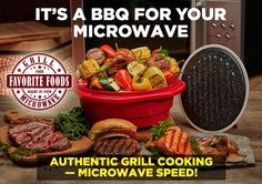 Authentic Grill Cooking Microwave Sd Chef On The