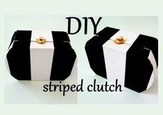 DIY: striped clutch