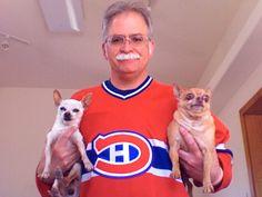 Deux chiens partisans du Tricolore, soumis par Matt Grush / Double dog Habs fan, submitted by MattGrush