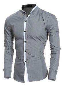 Camiseta De Hombre Negra 2019 Cuello Vuelto Manga Larga Milanoo Com En 2020 Camisas Masculinas Camisas Casuales Para Hombres Y Camisas Hombre Vestir