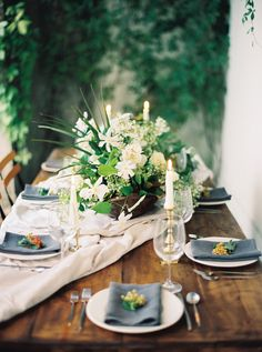 Overgrown Garden Wedding Inspiration via oncewed.com