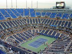 The Arthur Ashe Stadium in Flushing Meadows, New York holds 22,000 spectators for the US open in tennis