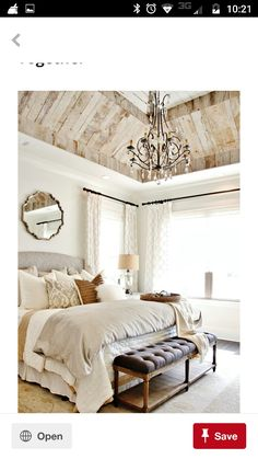 Would love to do this wood ceiling in my living room tray ceiling