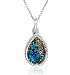 This is a genuine product with pure Swarovski crystals. You can find it in the authorized shops around you.  No other brand will be able to match the brilliance of this pendant in its gorgeous colors.  When you close your eyes, you will still be able to sense the genuine quality of this item.  This is a unique item in design and style.  The pendant has passed through a quality check to ensure that it is of the highest quality.