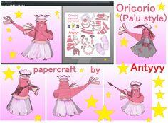 Oricorio (Pa'u Style) papercraft by Antyyy.deviantart.com on @DeviantArt