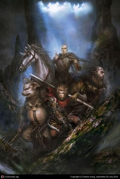 journey to the west art - Google Search