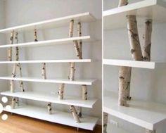 Interieurideeën | Leuke en originele manier om een boekenkast te maken! Door BellaLauren