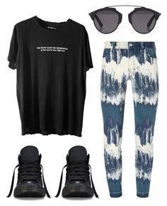 """#No name"" by eemaj ❤ liked on Polyvore featuring Tory Burch, Converse and Christian Dior"