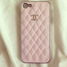 Pink chanel case <3