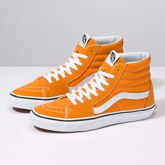 Browse bestselling Shoes at Vans including Men's Classics, Slip-On, Surf, BMX, Pro Skate Shoes and Sandals. Shop at Vans today! Mens Vans Shoes, Nike Air Shoes, Tenis Vans, Vans Sk8, Neon Vans, Sock Shoes, Men's Shoes, Orange Vans, Cute Vans