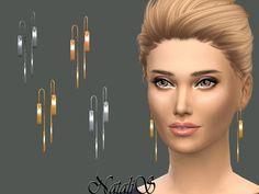 Metal Bar Drop Earrings by NataliS at TSR • Sims 4 Updates