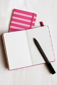 Buy Moleskine - Patterned - Hard Cover - Notebook - Pocket (9x14cms) - Ruled - Pink Stripes by Moleskine from NoteMaker.com.au
