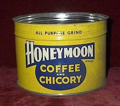 Rare HONEYMOON COFFEE  CHICORY New Orleans by BellRemnants