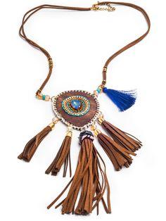Avienda Boho Necklace, Tribal Fringe Necklace