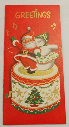 Vintage 1950's Christmas Cards