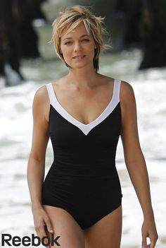 614e8cf69e9a6 Reebok® Princess of the Sea Fitness Swimsuit Black Swimsuit