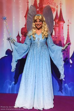 yeahdisneyaudios:  Disney fairy costume pic spam: The Blue Fairy (Disneyland Paris Resort) Source