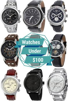 Groomsmen Gifts - Watches under $100 #groomsmen #gifts #watches.  Watches that the best man and the rest of the crew will love without breaking the bank.