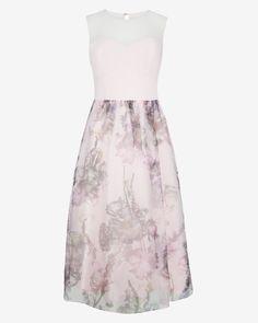 Torchlit Floral ballerina dress - Baby Pink | Dresses for Weddings | Ted Baker UK