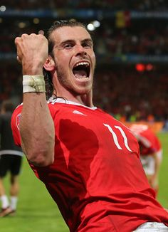 #EURO2016 Gareth Bale of Wales celebrates his team's 31 win after the UEFA Euro 2016 quarter final match between Wales and Belgium at Stade PierreMauroy on...