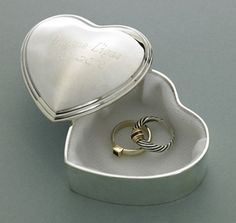 Buy Inspirational Heart Trinket Box with Engraved Cross. Gifts & Baskets - Inspirational Heart Trinket Box with Engraved Cross. Inspirational Heart Trinket Box with Engraved CrossDETAILS: This silver plated Inspirational Heart Trinket Box with Engraved Cr Personalised Box, Personalized Jewelry, Personalized Wedding, Jewelry Gifts, Jewelry Box, Silver Jewelry, Silver Ring, 925 Silver, Jewellery Boxes