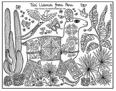 Animals For Other Countries Coloring Pages
