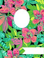 Free Lilly Pulitzer binder covers