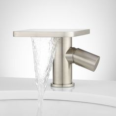 Knox Single Hole Waterfall Bathroom Faucet with Pop-Up Drain - Bathroom