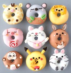 Fancy Donuts, Cute Donuts, Donuts Donuts, Delicious Donuts, Delicious Desserts, Yummy Food, Kreative Desserts, Disney Desserts, Disney Food