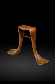 Karamajong headrest Origin: Kenya Material: Wood, metal Height: 21cm Provenance: Stephane Brosset