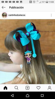 Laços de Meninas - Crochetfornovices.com Big Hair Bows, Making Hair Bows, Boutique Bows, Cinderella Hair, Stacked Hair, Peach Hair, Pink Hair, Baby Girl Hair Accessories, Glitter Hair
