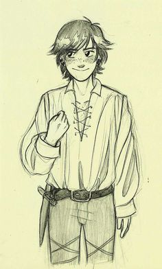 Pirate AU! Hiccup by andythelemon