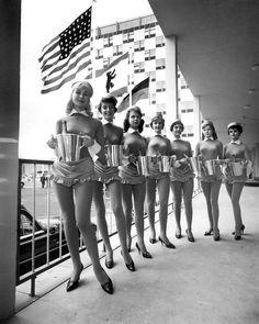 Waitresses at the Berlin Hilton,1958.  Photo by F.C. Gundlach.