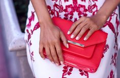 VivaLuxury - Fashion Blog by Annabelle Fleur: THE FINE PRINT - TED BAKER Nelum maxi dress, Isla patent cross body bag & Neevo pointed toe court shoes | NIALAYA Skyfall collection gold jewel ear cuff May 6, 2015