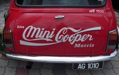 Wonder if I can do this with Dr Pepper? Coca Cola Mini, Red Mini Cooper, Mini Driver, Mini Copper, Morris Minor, Mini Countryman, Ex Machina, Mini One, Cute Cars