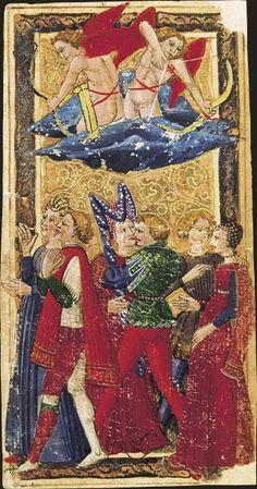 L'Amoureux, Tarot dit de Charles VI, fin du XVe siècle, Italie du Nord
