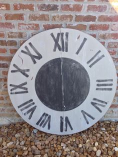Repurposed tabletop into wall clock