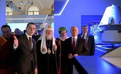 Владимир Путин посетил выставку «Россия, устремлённая в будущее» .