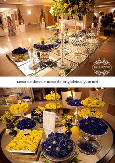 Casando e Amando: Inspiração - Decoração Azul e Amarelo