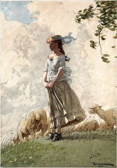Fresh Air | Homer Winslow Watercolor
