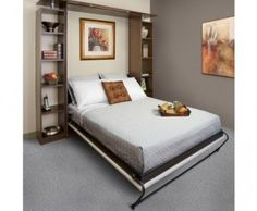 Wall beds are the perfect solution for lack of space. Our Murphy Wall Beds make it easy to save space by allowing you to hide a bed when it's not needed. Furniture Hardware, Home Hardware, Hidden Bed, Wood Kitchen Cabinets, Bed Wall, Hidden Storage, Bedroom Styles, How To Make Bed, Beautiful Bedrooms