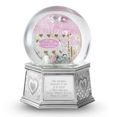 "Engraved Valentine's Day Mom Musical Snow Globe by Things Remembered. $39.99. The relationship between a mother and child is one that is cherished for their entire lives. And this water globe is treasured for its handcrafted design and intricate detail. Mom will love adding this to her collection of gifts from you-especially when you engrave it. -Plays Beethoven's Fur Elise. -The plaque inside includes the famous George Washington quote: ""All I am I owe to my Mother."" -Not inten..."