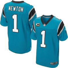 ee5689f3a94 C Patch Nike NFL Carolina Panthers  1 Cam Newton Elite Alternate Blue Men s  Jersey Carolina