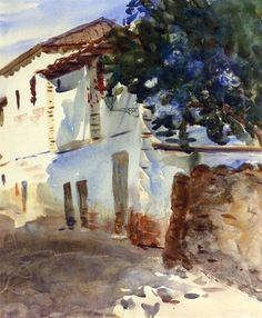 The White House by John Singer Sargent. Impressionism. cityscape. Private Collection
