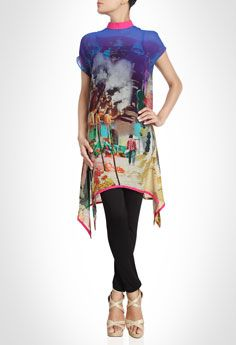 Contemporary Tunic Featuring Traditional Prints