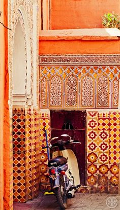 Vespa and Moroccan tiles