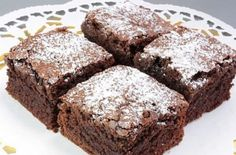 Sugar & Everything Nice: Chewy Chocolate Brownies No Cook Desserts, Brownie Bar, Chocolate Brownies, Brownie Recipes, Banana Bread, Bakery, Food And Drink, Cooking Recipes, Sweets