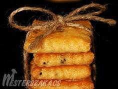 Sajtos-sós keksz Onion Rings, No Bake Cookies, Croissant, Pineapple, Bakery, Food And Drink, Bread, Fruit, Vegetables