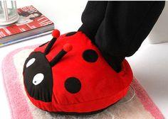 Cute Ladybird USB Heating Shoes Warmer