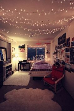 16-teenage-girl-bedroom-decors-with-light-top-easy-interior-diy-design-project (6):